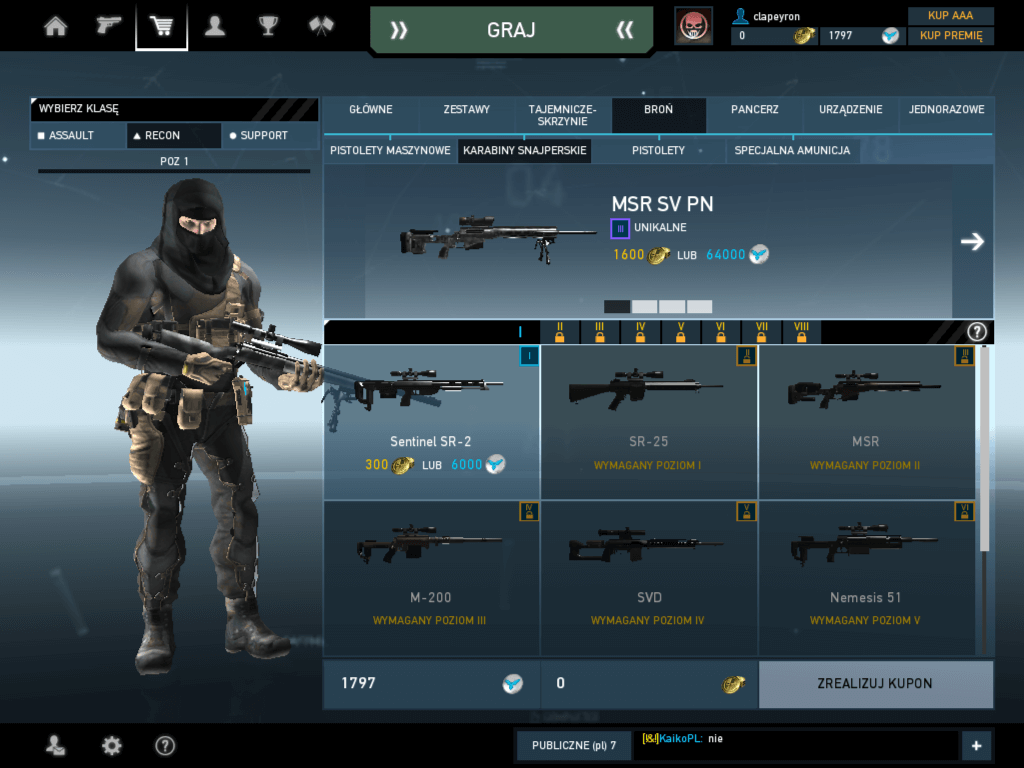 Ghost Recon Phantoms - klasa recon