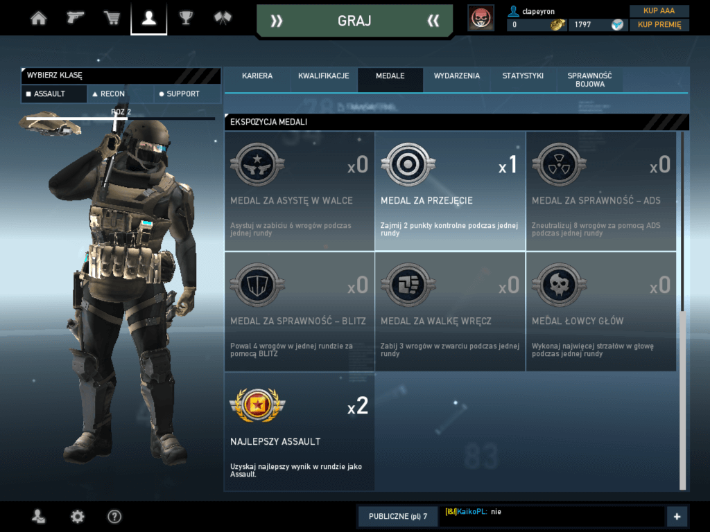 Ghost Recon Phantoms - medale