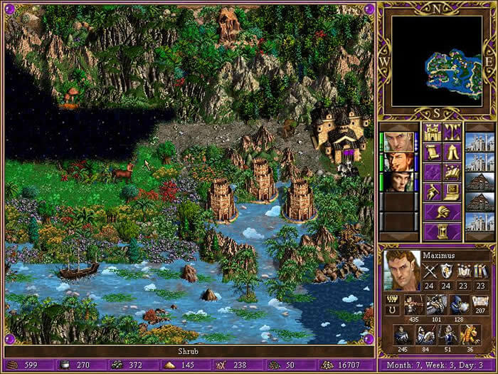heroes of might and magic 3 - in the wake of gods - mapa