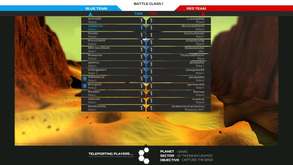 Robocraft - ranking