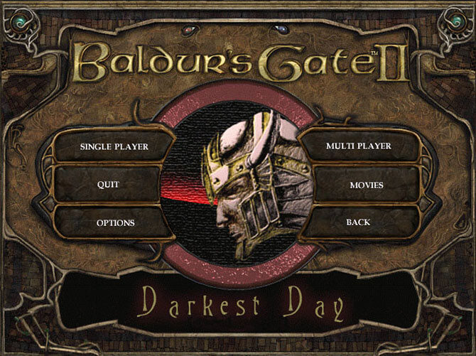 Baldur's Gate II The Darkest Day - logo