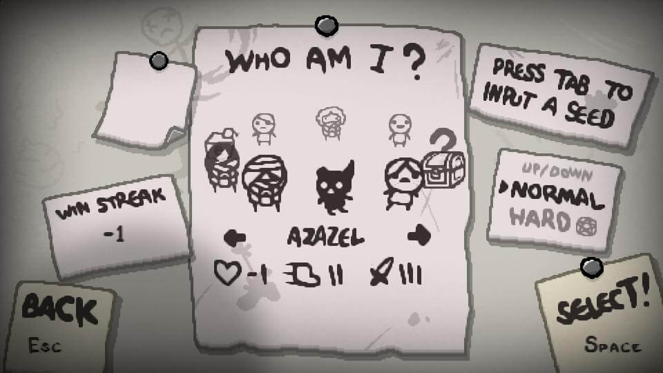 The Binding of Isaac Rebirth - postacie