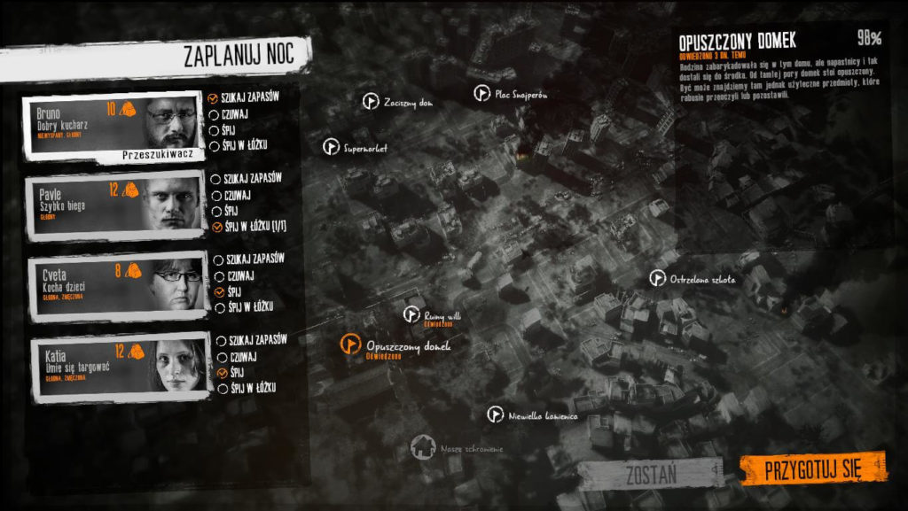 This War of Mine - mapa miasta