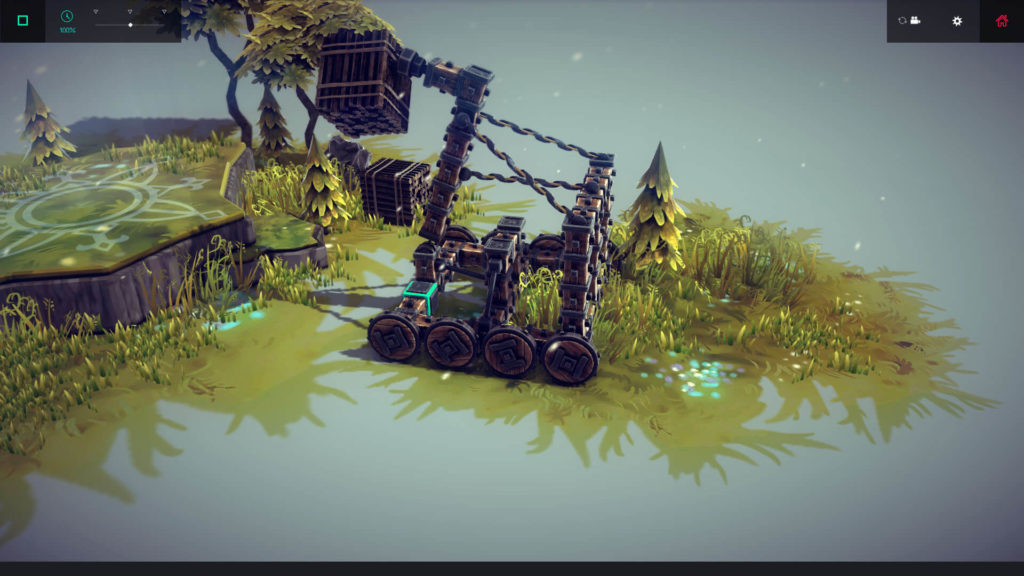 Besiege - machineria na bazie katapulty