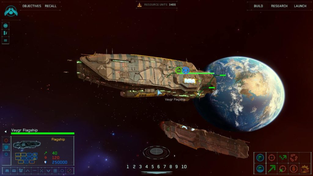 homeworld remastered collection - statek flagowy Vaygr