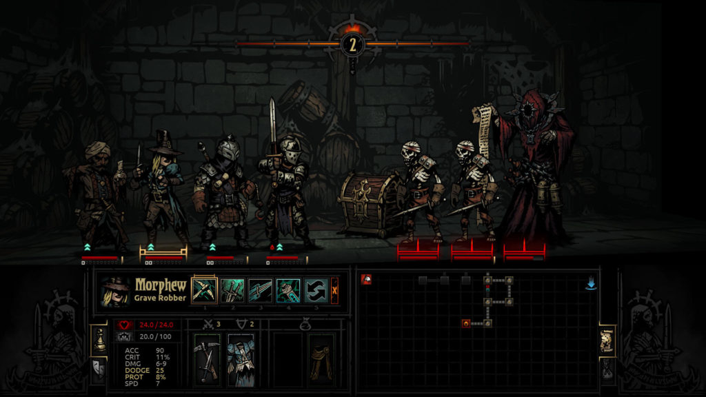 Darkest Dungeon - Walka z nekromantą
