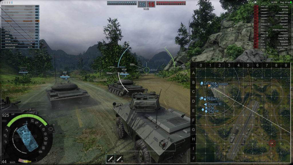 Armored Warfare - Mapa Ghost Fields