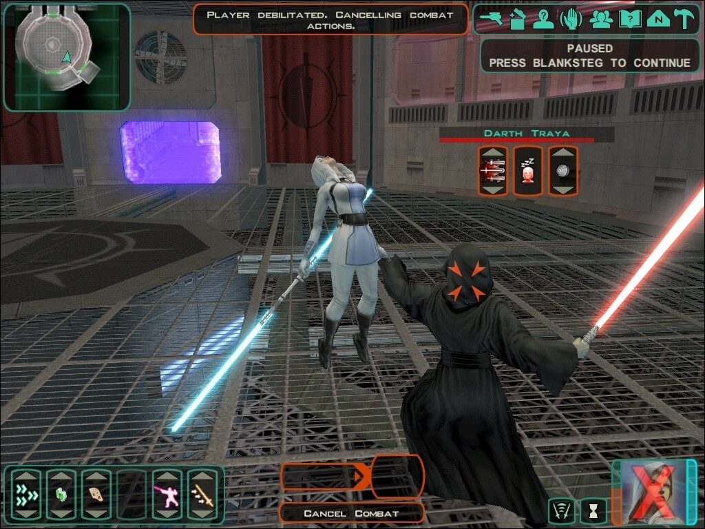 Star Wars Knights of the Old Republic II - duszenie wroga