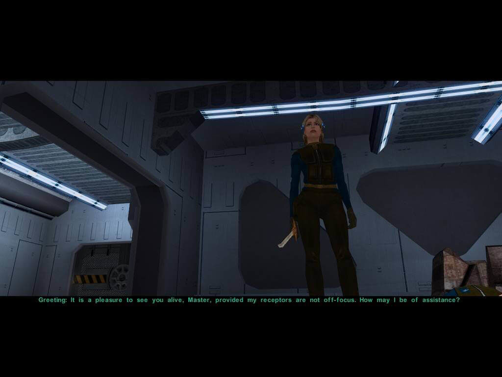 Star Wars Knights of the Old Republic II - scena dialogowa