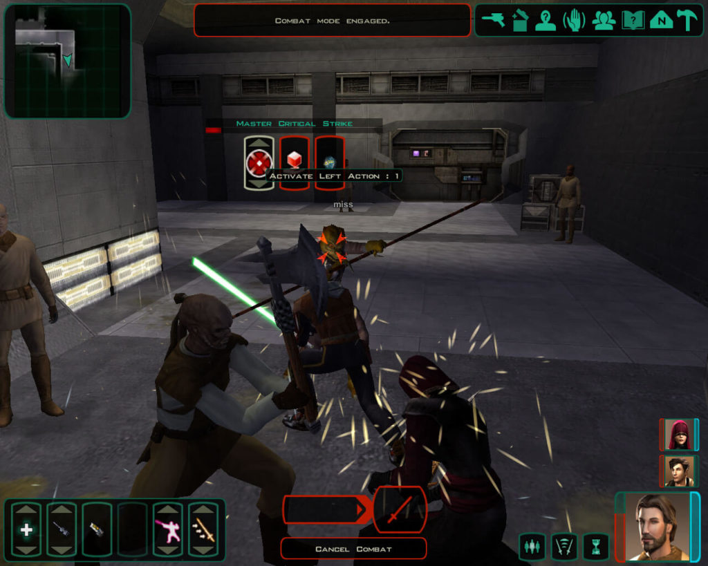 Star Wars Knights of the Old Republic II - scena walki