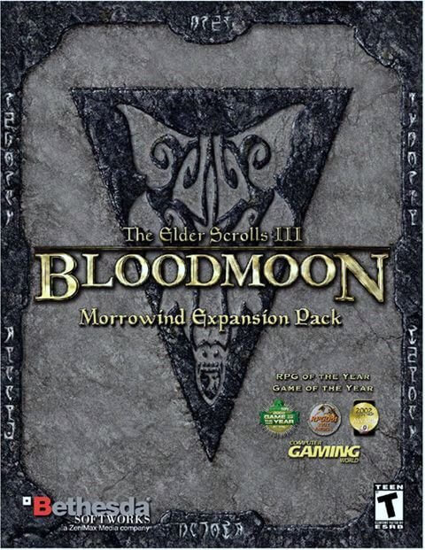 Morrowind - Bloodmoon expansion pack cover