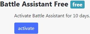 Battle Assistant Activation