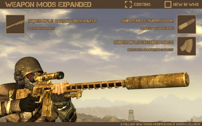 Fallout New Vegas - Weapon mods expanded