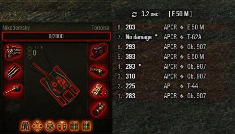 Damage Log by Gambiter World of Tanks