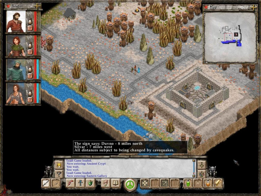avernum escape from the pit - widok na podziemia