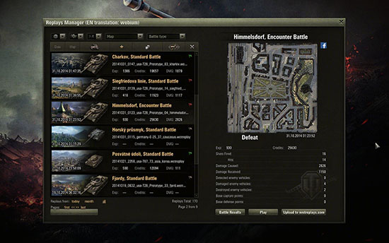 WoT replay manager